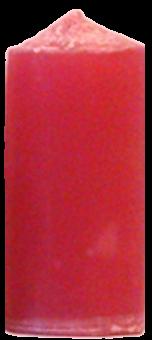 Svíčka válec střední široký lososová