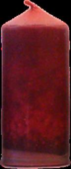 Svíčka válec střední široký hnědá
