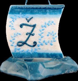 Svíčka loďka písmeno