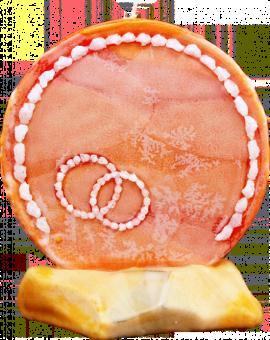 Svíce kruh svatební s kameny