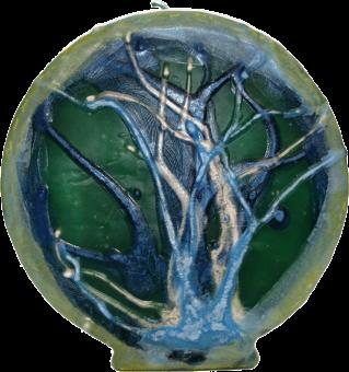 Svíce mandala kruh