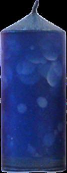Svíčka válec střední široký modrá