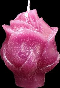 Svíce reliefní růže