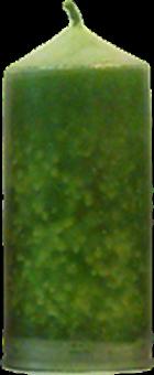 Svíčka válec střední široký zelená