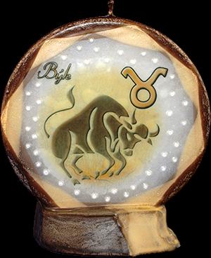 Svíce kruh znamení býk