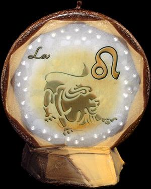Svíce kruh znamení lev