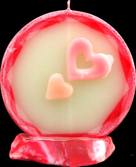 Svíčka kruh valentýn