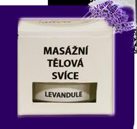 Tělová masážní svíčka LEVANDULE velké balení