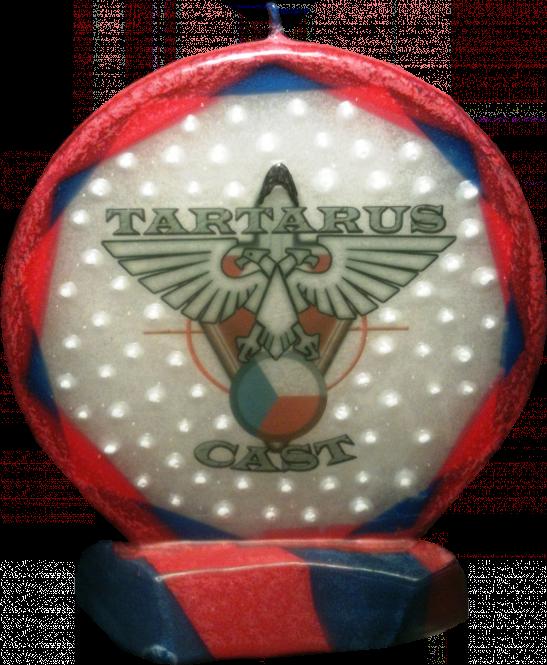 Svíčka kruh logo Tartaruscast staré
