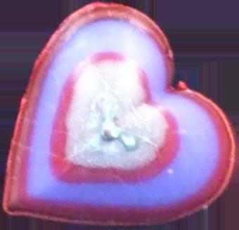 Svíčka srdce střední valentýn